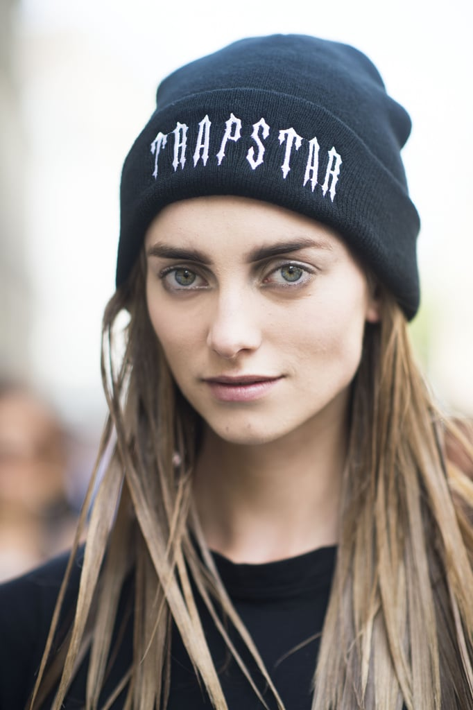 Stiff hair and silver eyeliner make for a surprisingly cool look. Source: Le 21ème | Adam Katz Sinding