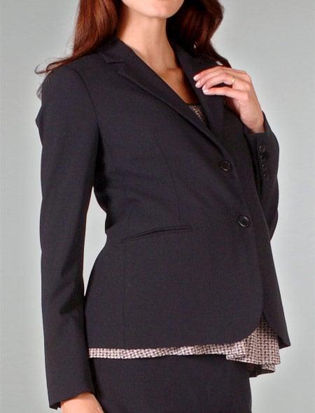 2-Button Stretch Wool Suiting Jacket ($250)