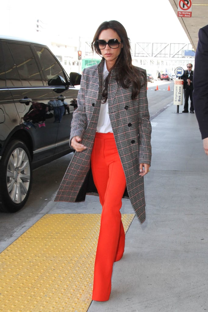 When in doubt, add a vibrant pop of color, Victoria Beckham style.