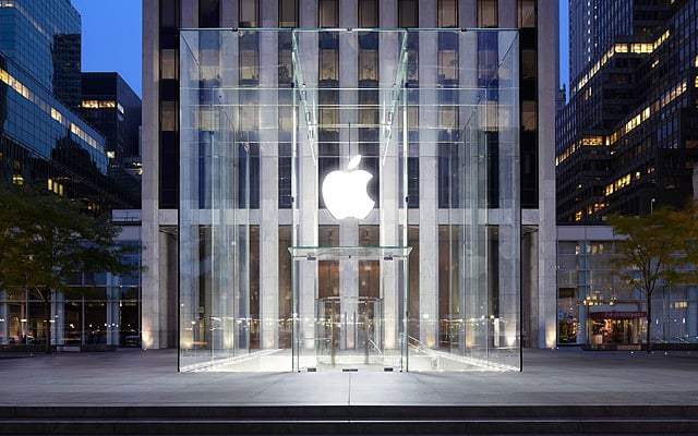 """The famous Fifth Avenue Apple store (aka the """"glass cube"""") was found to be the city's most photographed attraction in 2011. Source: Apple"""
