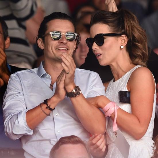 Celebrities Watching Tennis at 2014 Wimbledon