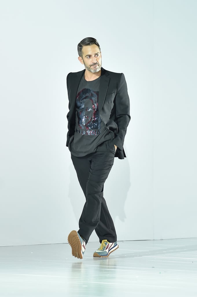 Marc Jacobs wore his own shirt to take a bow.