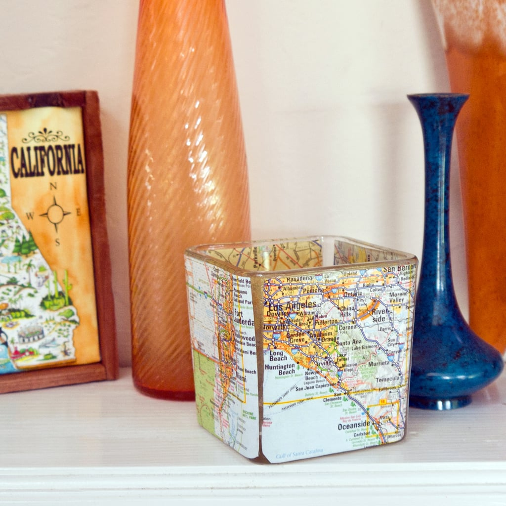 Your home decor is map and postcard themed.