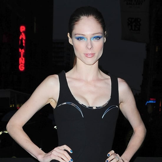 How to Wear Blue Eye Shadow Like Coco Rocha