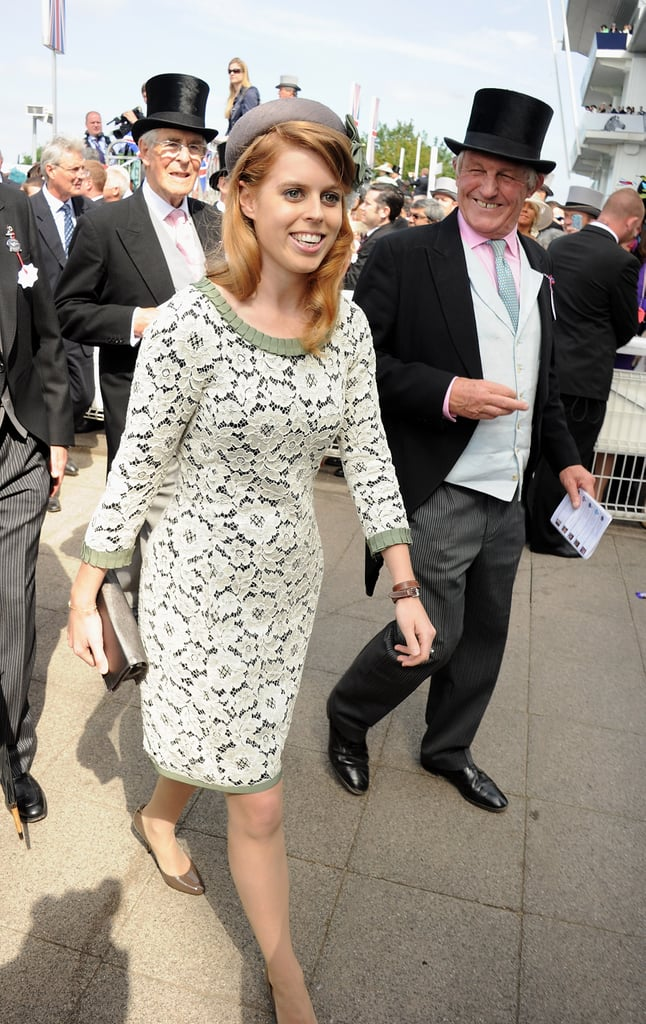 Princess Beatrice of York looked pretty in her dress for the derby.