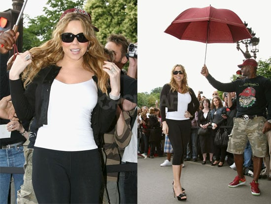 Mariah Stays Protected From Those Threatening Clouds