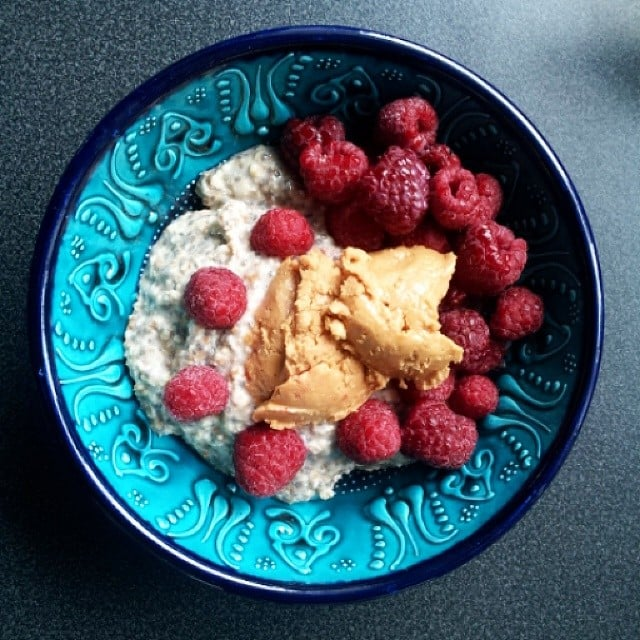 This bowl gets a major protein boost from a dollop of peanut butter.