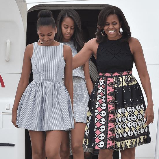 Michelle Obama Talks About Gossiping With Malia and Sasha