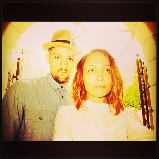 Nicole Richie put on sheer bunny ears to spend Easter with Joel Madden.  Source: Instagram user nicolerichie