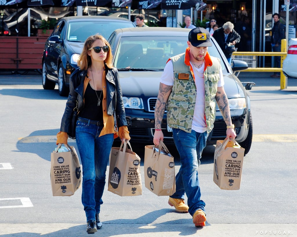 Nicole Richie and Joel Madden were side by side in LA on Thursday while buying groceries.