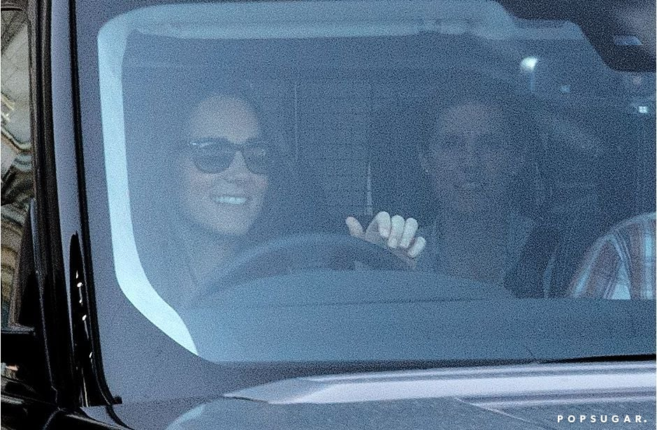 Kate Middleton and Prince George's nanny left Kensington Palace earlier in the day.