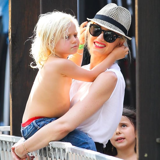 Gwen Stefani With Sons in Central Park Pictures