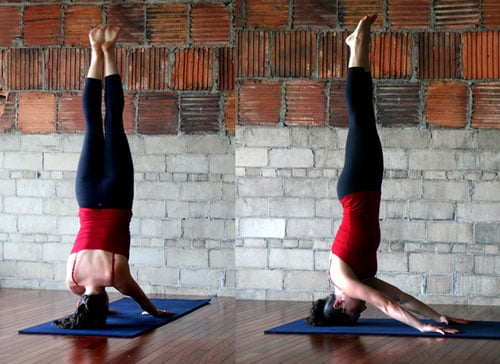 Yoga Pose of the Week Palms Up Headstand