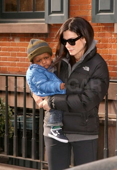 Pictures of Sandra Bullock Carrying Louis Bardo in NYC