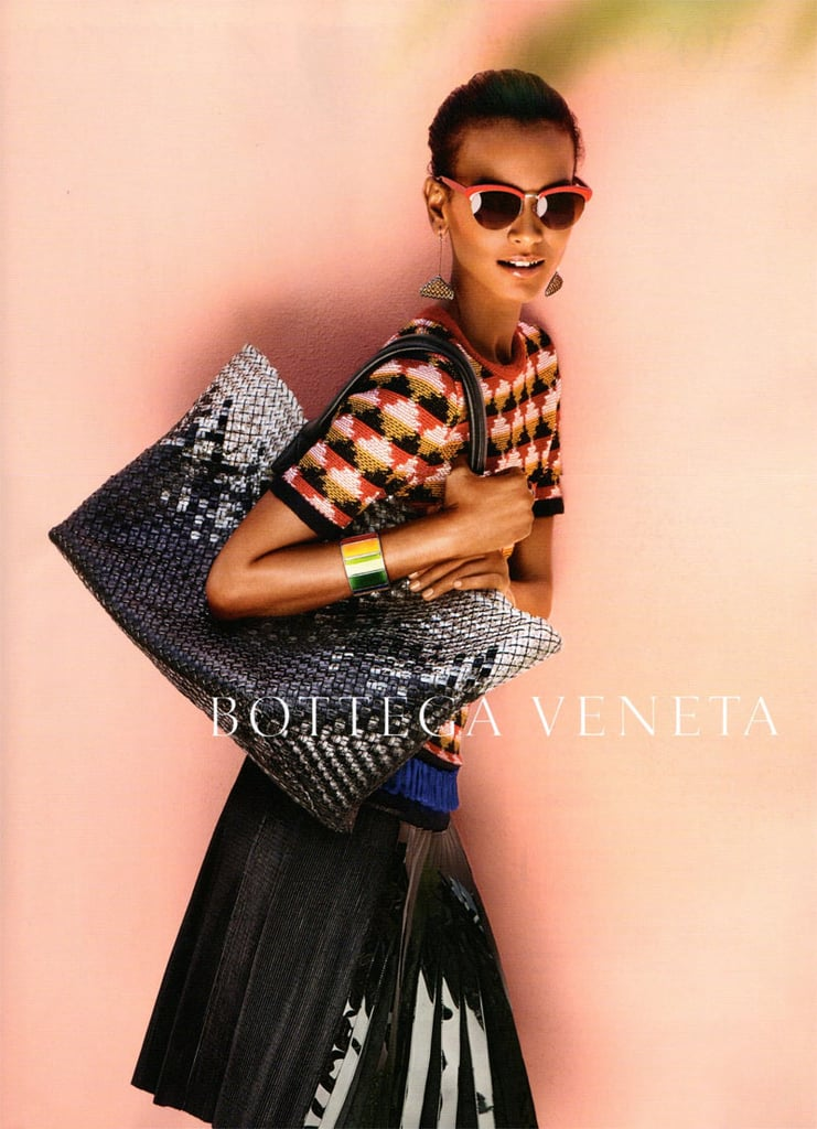 Liya Kebede shines in a light, sunny pieces for Bottego Veneta Spring '12. Source: Fashion Gone Rogue