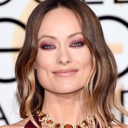Olivia Wilde's Eye Makeup at Golden Globes 2016