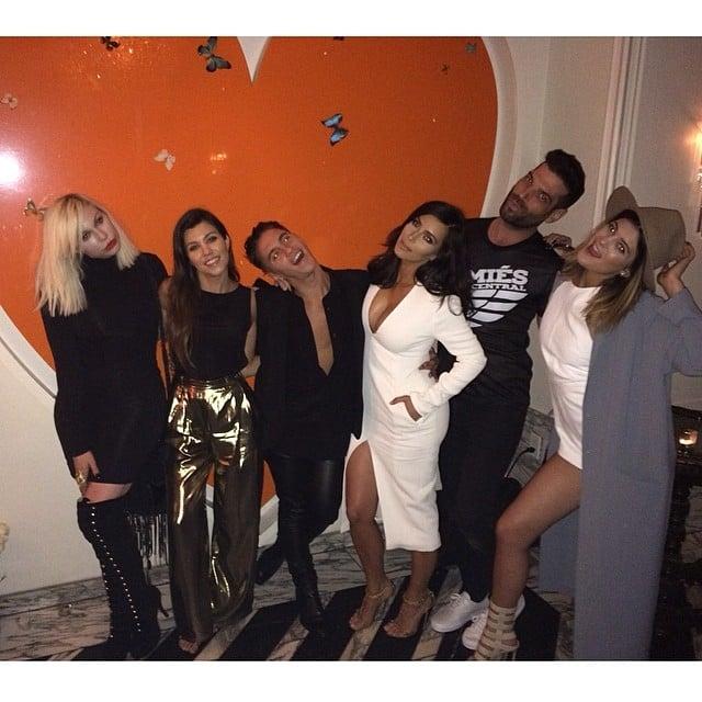 The Kardashian-Jenner clan celebrated a friend's birthday together. Source: Instagram user kourtneykardash