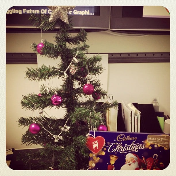 We heart Christmas! No office is complete without a teeny tree and advent calendars for all staff, right?