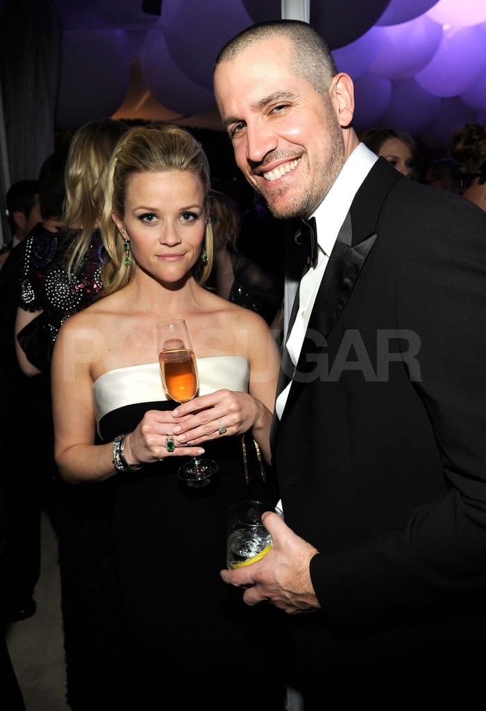 Reese Witherspoon and Jim Toth partied at Vanity Fair's Oscar bash in 2011.