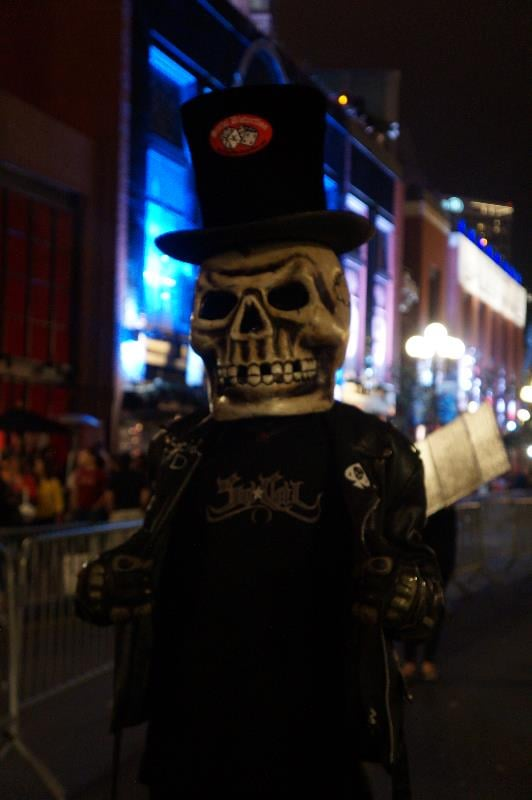 This skull-headed character would fit right in to Sons of Anarchy.