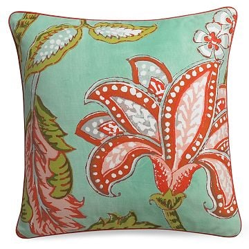 Williams-Sonoma Home Reversible Tropical Floral Print Pillow