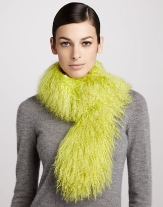 This Trilogy highlighter shearling scarf ($195) is a bold accessory choice but would undoubtedly make you the center of attention. Plus, it would keep you insanely cozy.