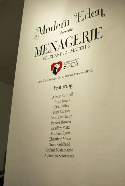"""Menagerie"" runs from February 12 - March 6."