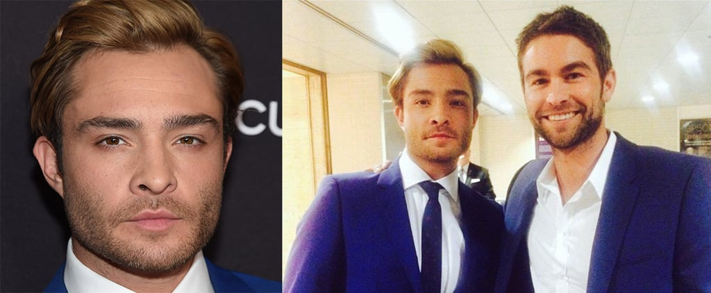 Spotted: Ed Westwick With a Dapper New Hairstyle