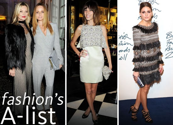 Pictures of Celebrities, Designers and Models at the 2011 British Fashion Awards: Alexa Chung, Olivia Palermo, Kate Moss & mor