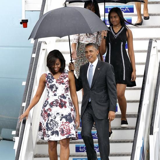 Michelle Obama's Carolina Herrera Dress in Cuba March 2016