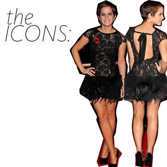The Icon Kit: Emma Watson's Fun, Feathered Look