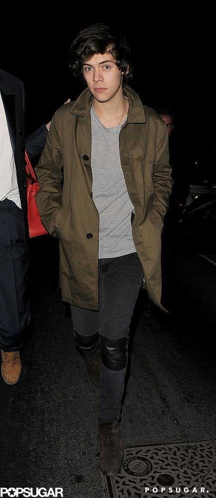 Harry Styles went to several Fashion Week parties in London on Monday.
