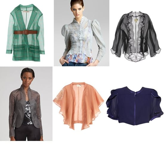 Shopping: Sheer Bed Jackets For Spring