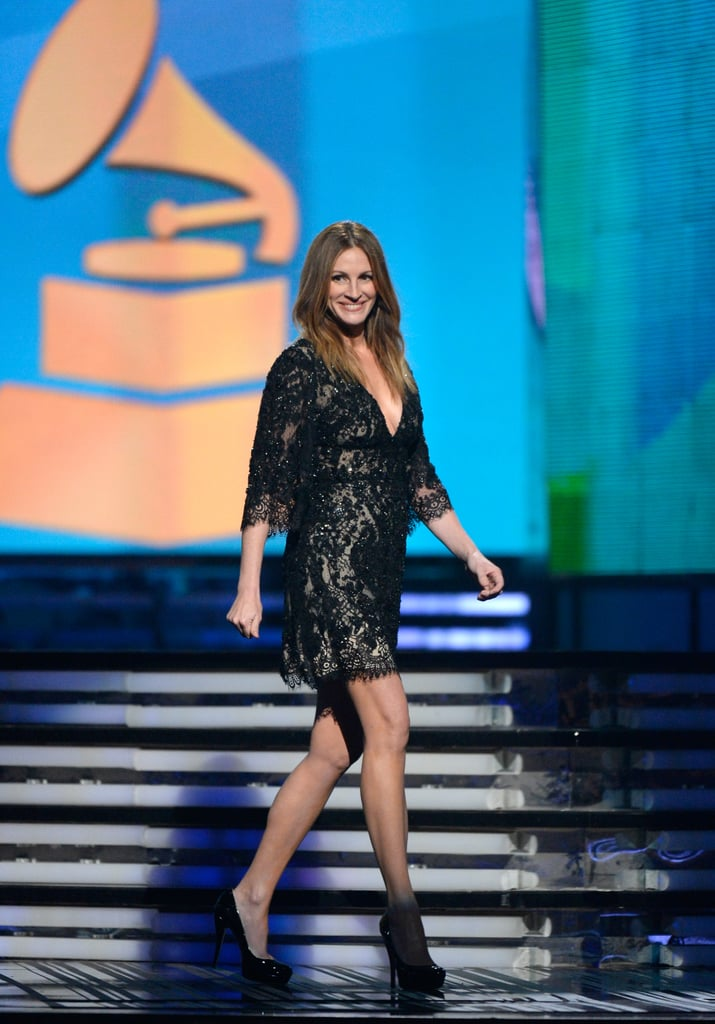 Julia Roberts came out to introduce Paul McCartney and Ringo Starr.