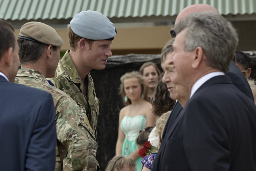 Prince Harry visited the Special Air Service Regiment in Perth on Sunday.