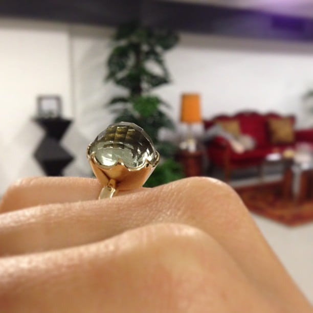Now that's a cocktail ring! Ali was loving this doozy from Garland Row Bespoke Jewellery.