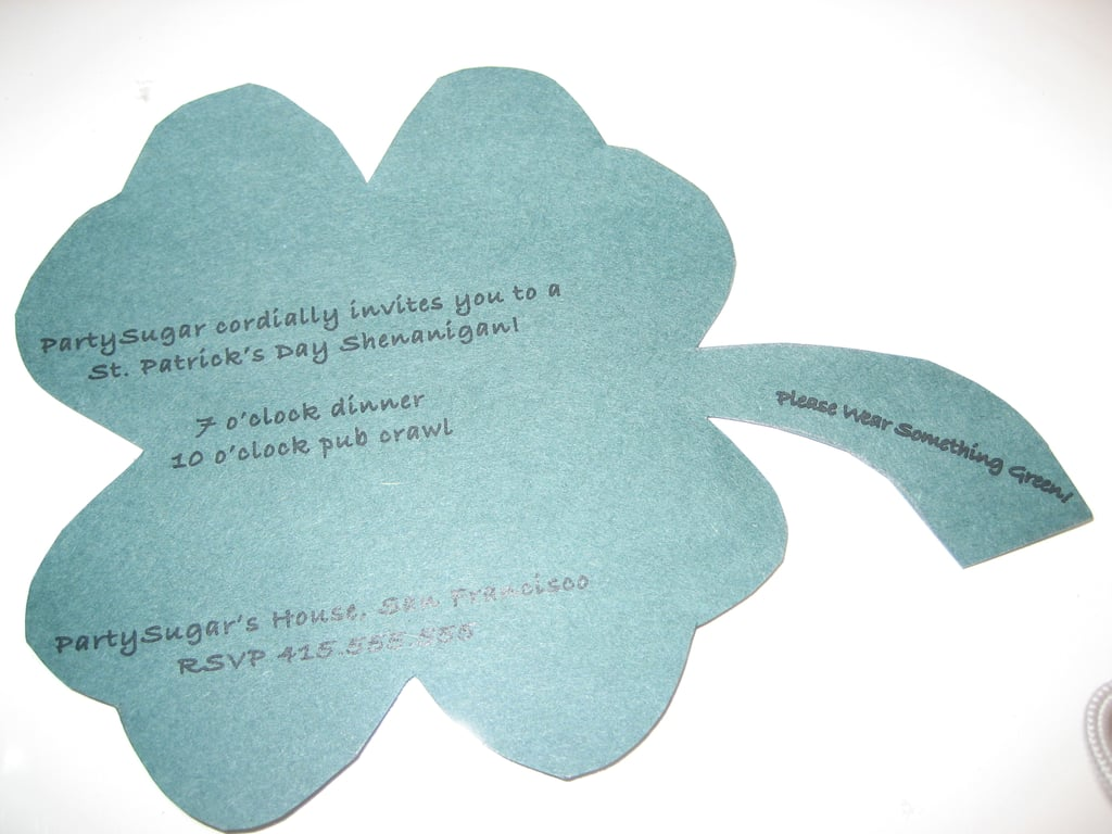 Come Party With Me: St. Patrick's Day - Invites