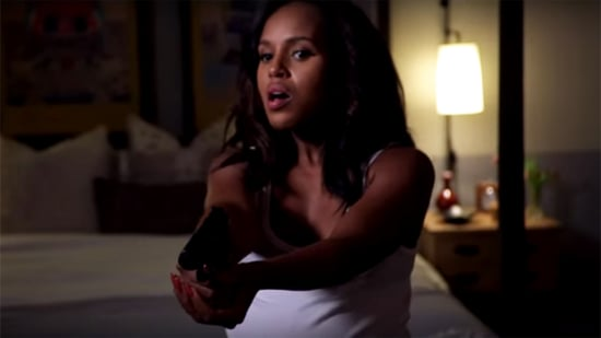 Pregnant Kerry Washington Battles an Evil Group Text on 'Jimmy Kimmel Live': Watch!