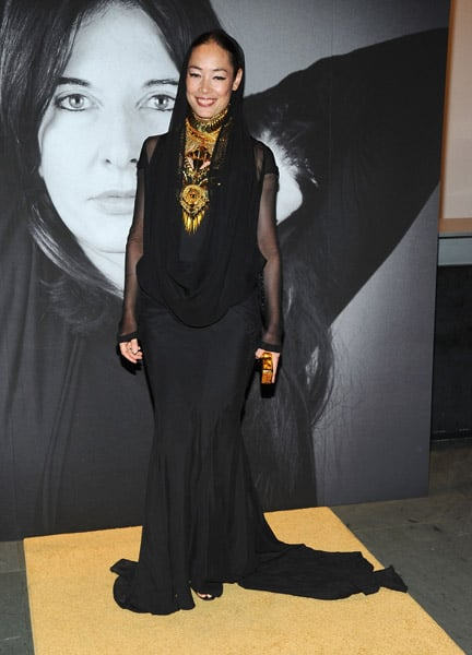 Cecilia Dean opted for a Burka-style Givenchy from Fall '09 Couture.