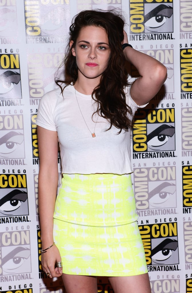 Kristen Stewart ran her hand through her hair.