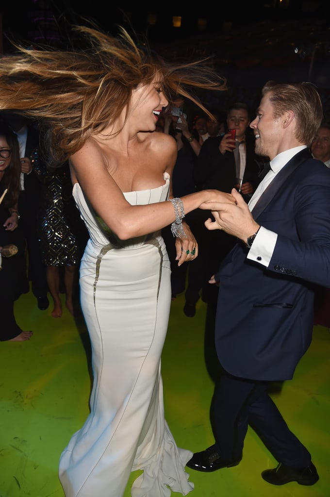 Derek Hough Nearly Made Sofia Vergara Fall Out of Her Dress — and There's Video!