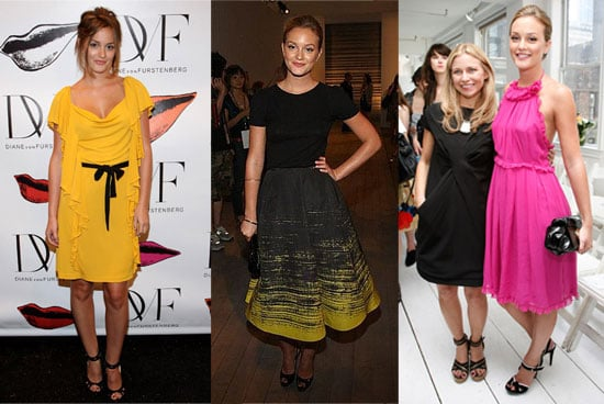 Leighton Meester Looks at New York Fashion Week