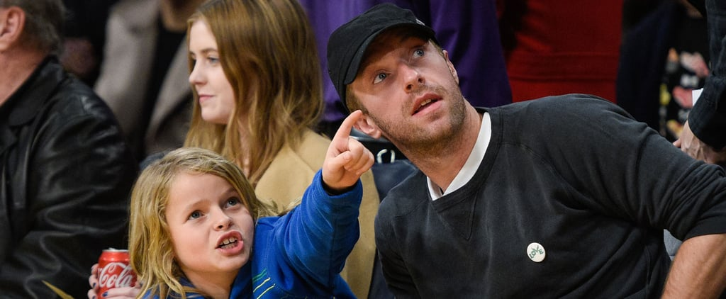 "Chris Martin and Son Moses Have a ""Ball"" at the Lakers Game"