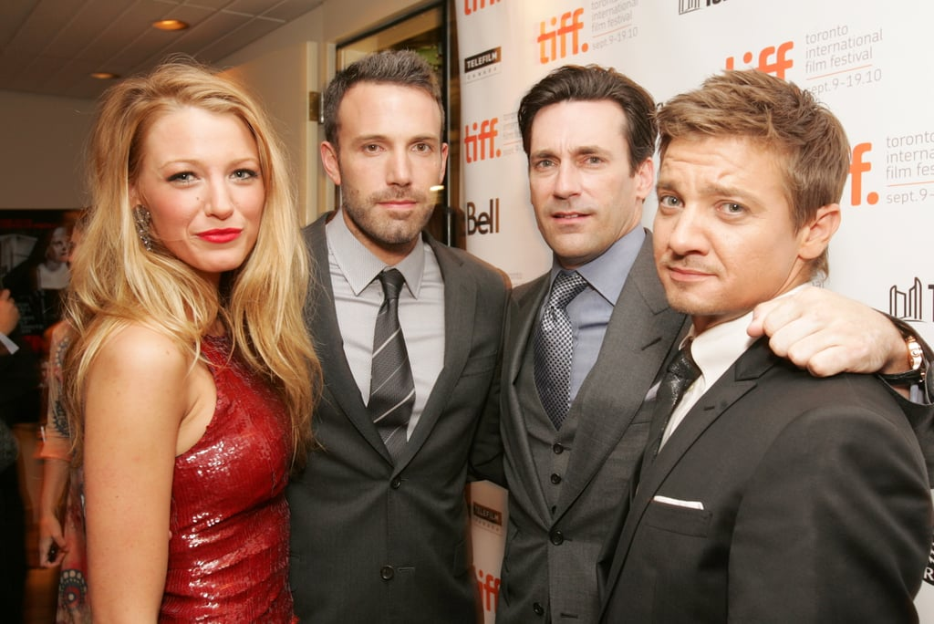 Ben Affleck was in good company at the 2010 premiere of The Town. Blake Lively, Jon Hamm and Jeremy Renner all made the trip to Toronto to support their movie.