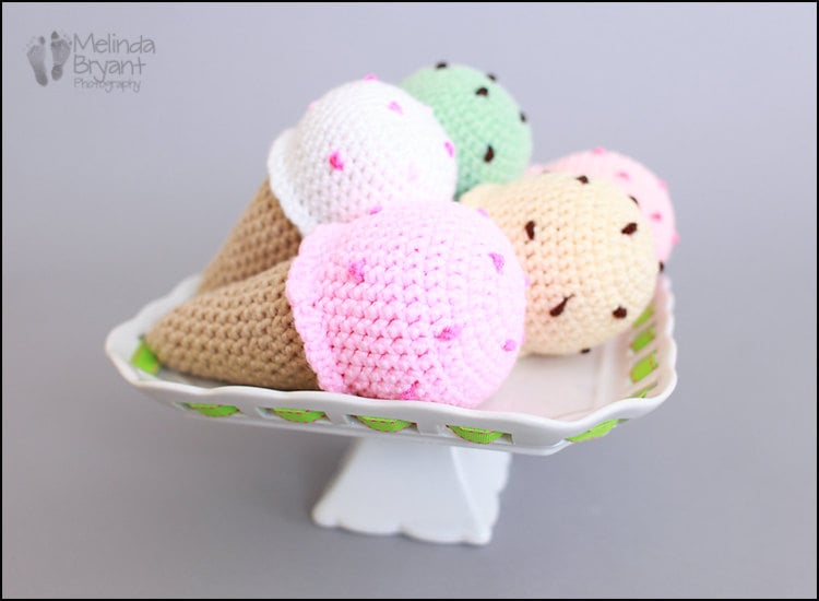 Nadia's Place Play Food Ice Cream Cone Rattle ($8)
