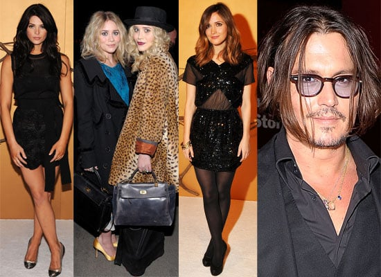 Photos of People's Sexiest Man Alive Johnny Depp, New Moon's Ashley Greene, Mary-Kate Ashley Olsen at Tim Burton MOMA Exhibition