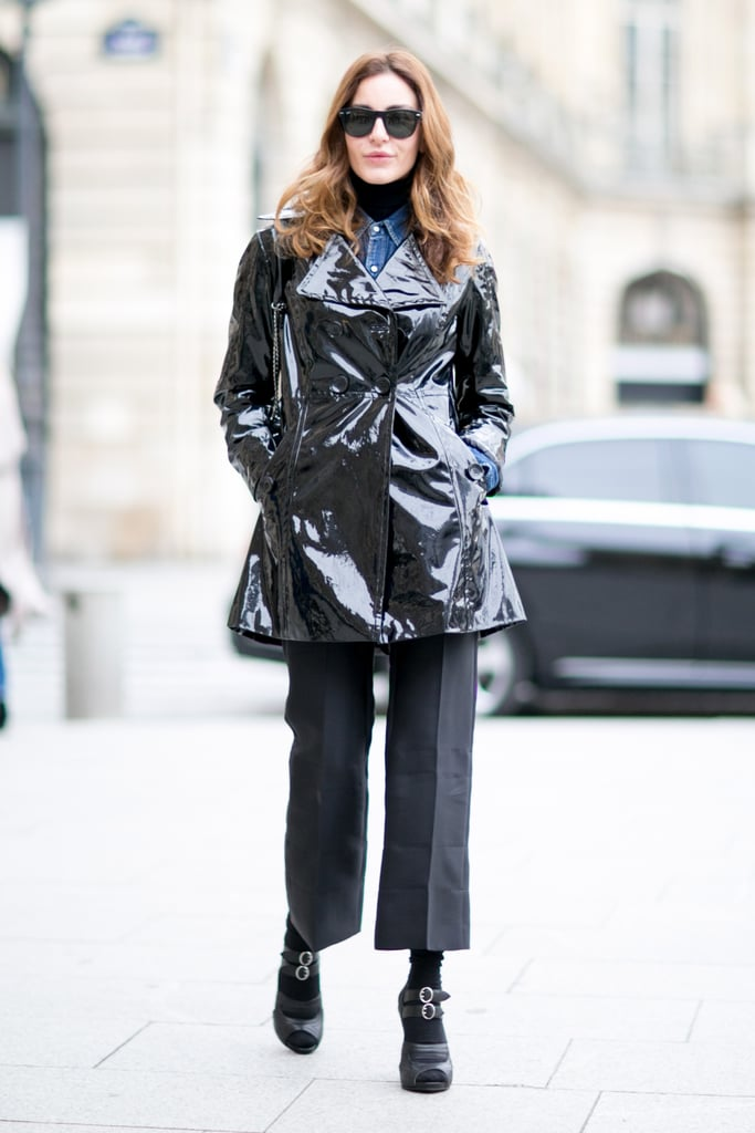 One way to safeguard against the cold and stay this chic? Add a sleek peacoat.