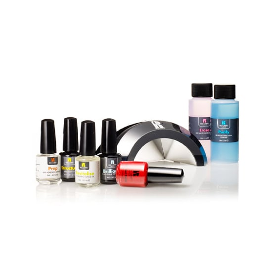 For a lightning-fast dry time of 45 seconds, you can't go wrong with Red Carpet Manicure's Pro Kit ($80). Say goodbye to smudgy lacquer.
