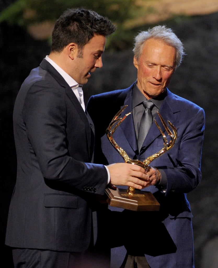 Ben Affleck accepted his award from Clint Eastwood.