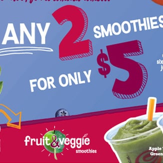 Jamba Juice 2 For $5 Deal